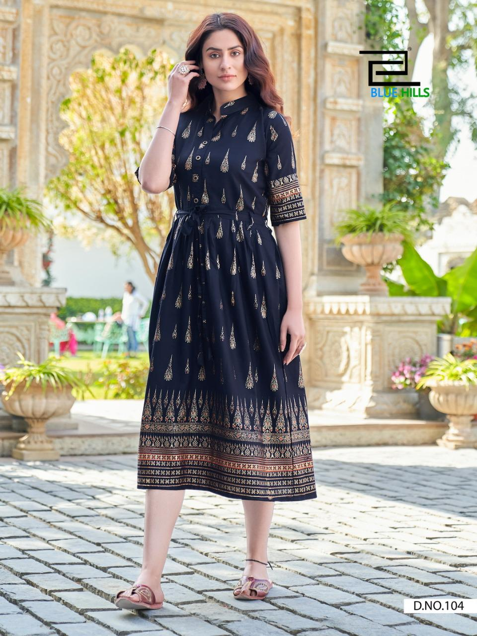 Blue Hills Gold Fish Kurti Wholesale Catalog 4 Pcs 3 - Blue Hills Gold Fish Kurti Wholesale Catalog 4 Pcs