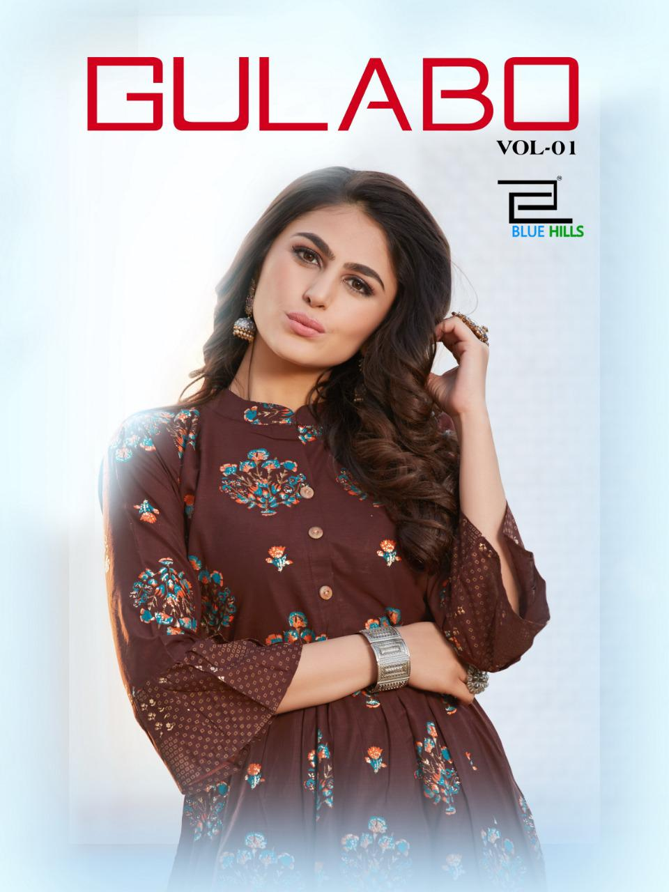 Blue Hills Gulabo Vol 1 Kurti Wholesale Catalog 8 Pcs 13 - Blue Hills Gulabo Vol 1 Kurti Wholesale Catalog 8 Pcs