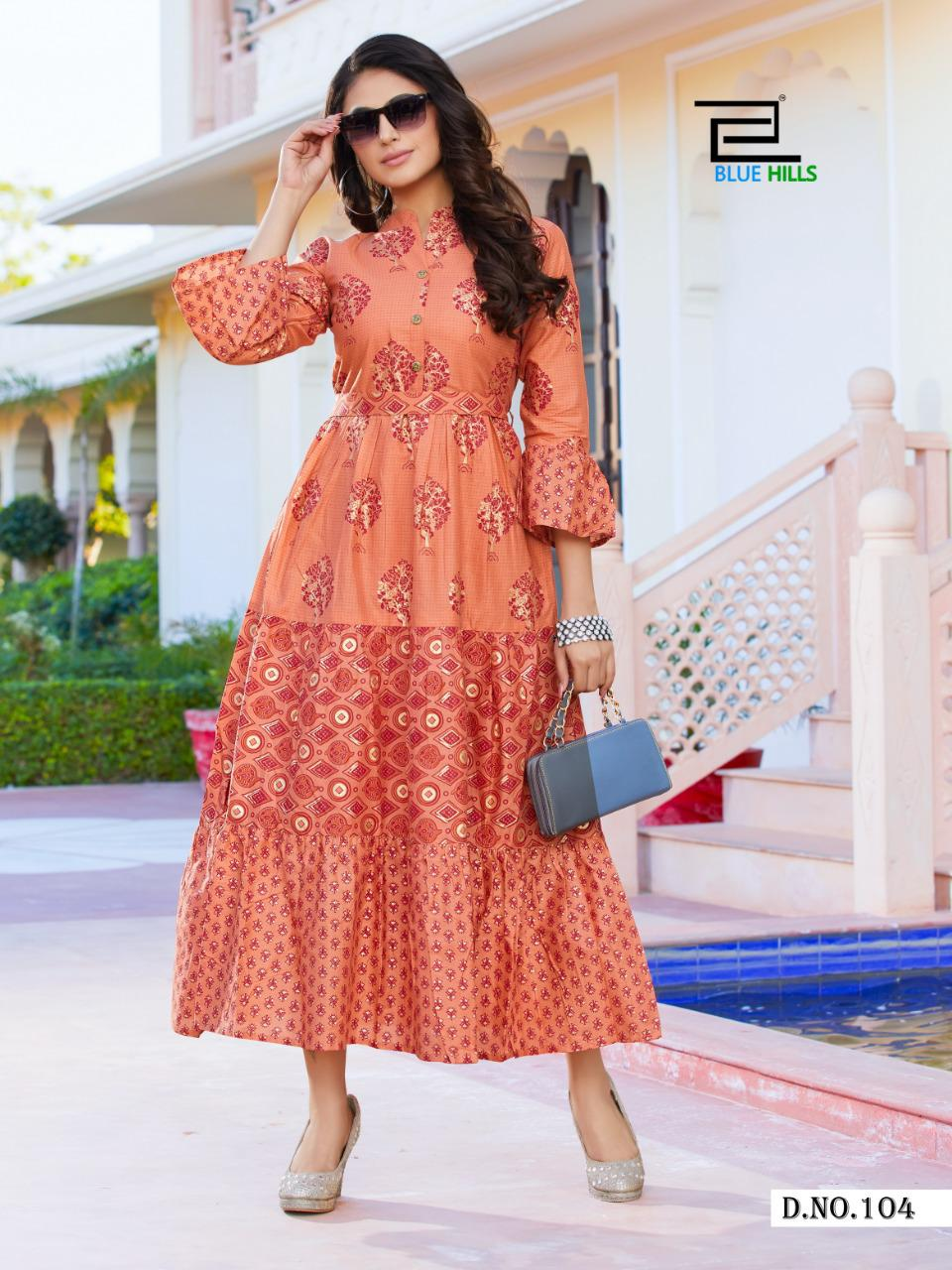 Blue Hills Gulabo Vol 1 Kurti Wholesale Catalog 8 Pcs 5 - Blue Hills Gulabo Vol 1 Kurti Wholesale Catalog 8 Pcs