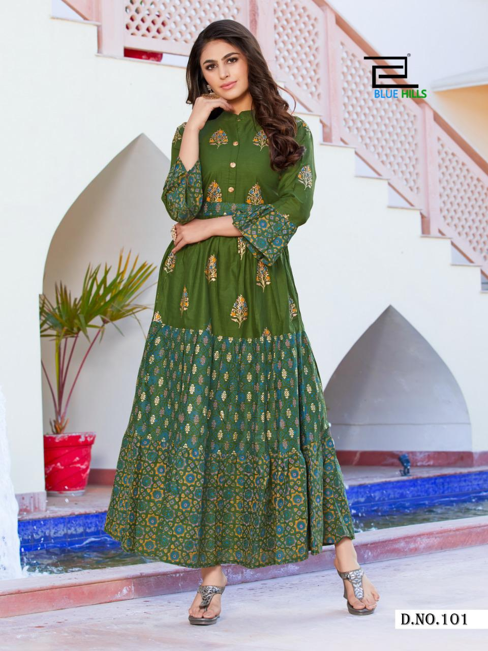 Blue Hills Gulabo Vol 1 Kurti Wholesale Catalog 8 Pcs 7 - Blue Hills Gulabo Vol 1 Kurti Wholesale Catalog 8 Pcs
