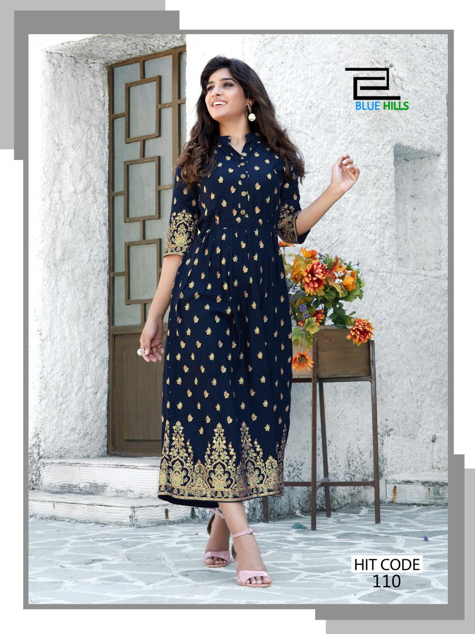 Blue Hills Walkway Hit Kurti Wholesale Catalog 10 Pcs 1 - Blue Hills Walkway Hit Kurti Wholesale Catalog 10 Pcs