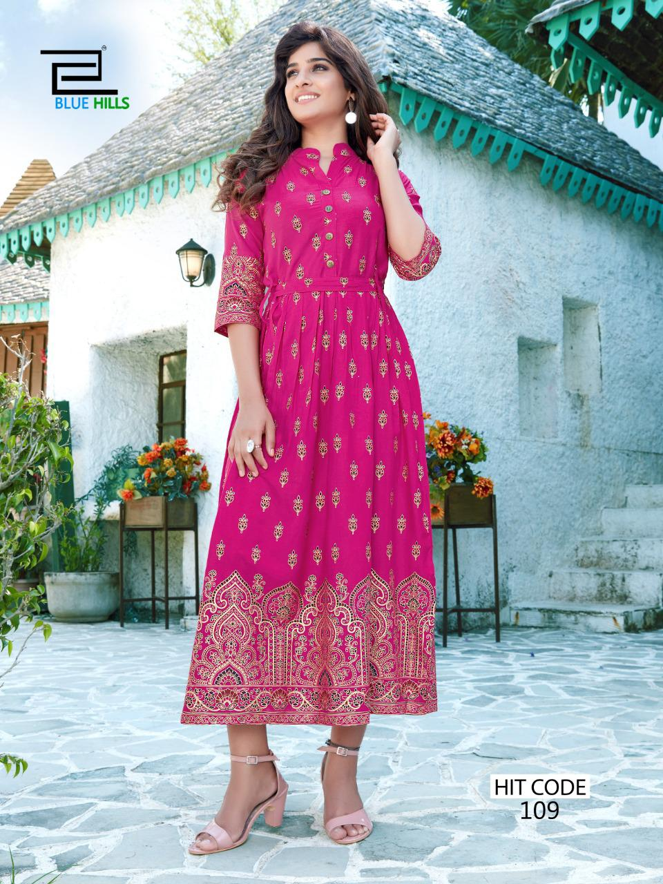 Blue Hills Walkway Hit Kurti Wholesale Catalog 10 Pcs 10 - Blue Hills Walkway Hit Kurti Wholesale Catalog 10 Pcs