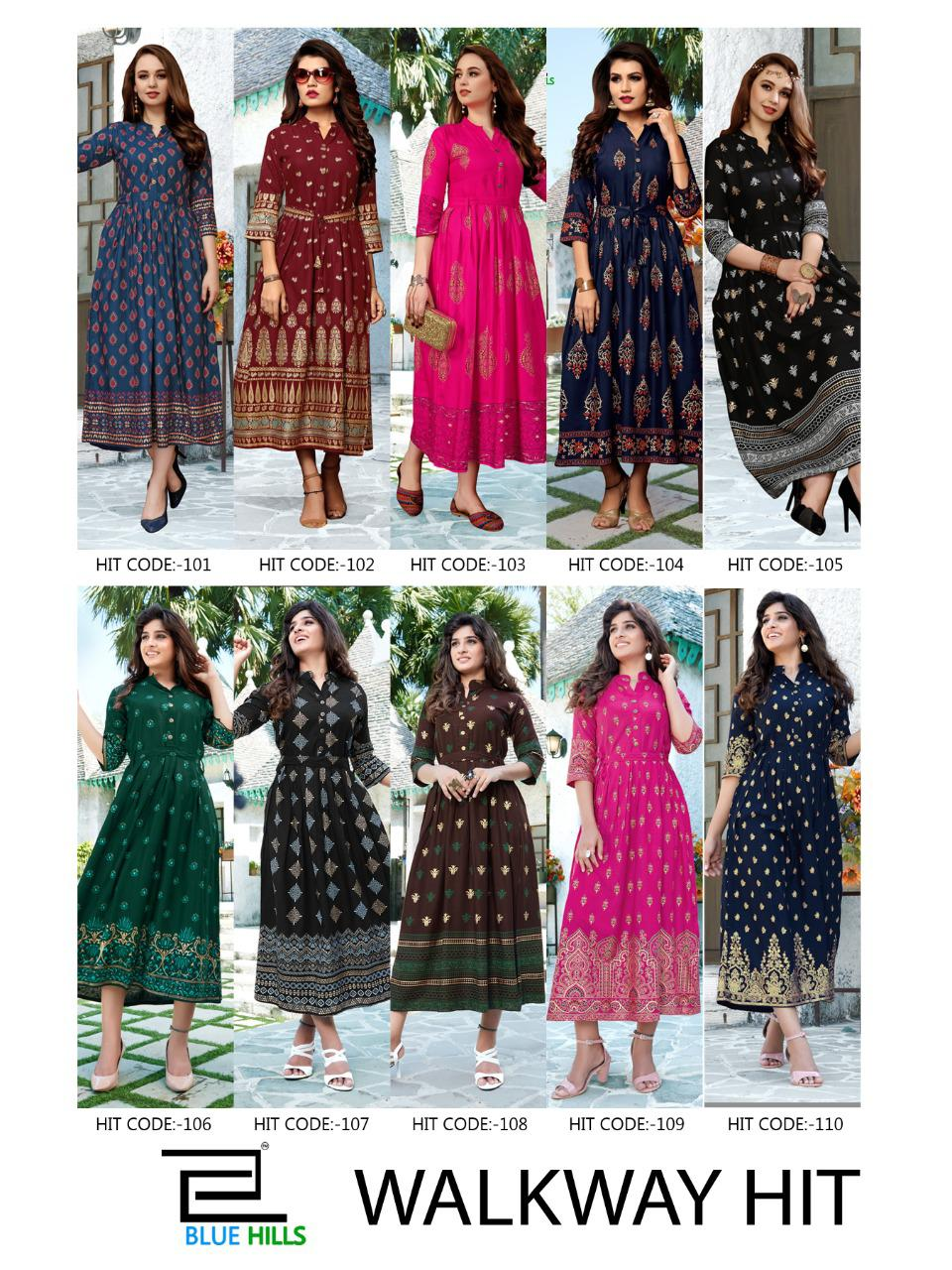 Blue Hills Walkway Hit Kurti Wholesale Catalog 10 Pcs 11 - Blue Hills Walkway Hit Kurti Wholesale Catalog 10 Pcs