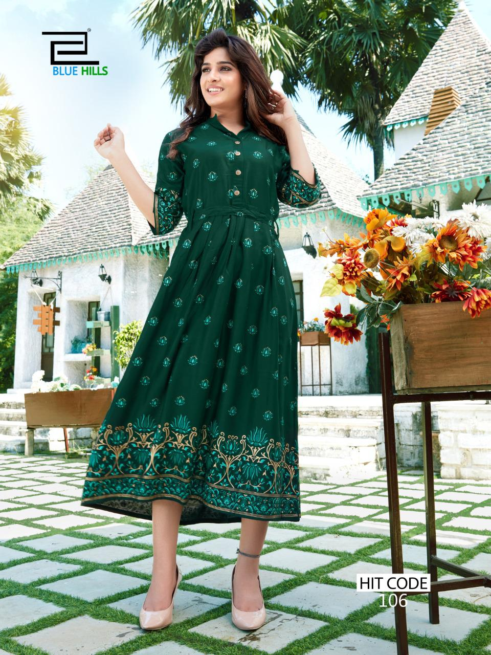 Blue Hills Walkway Hit Kurti Wholesale Catalog 10 Pcs 4 - Blue Hills Walkway Hit Kurti Wholesale Catalog 10 Pcs