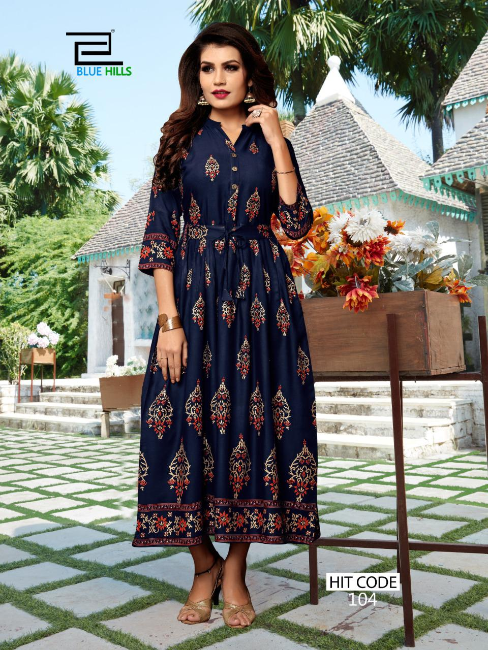 Blue Hills Walkway Hit Kurti Wholesale Catalog 10 Pcs 6 - Blue Hills Walkway Hit Kurti Wholesale Catalog 10 Pcs