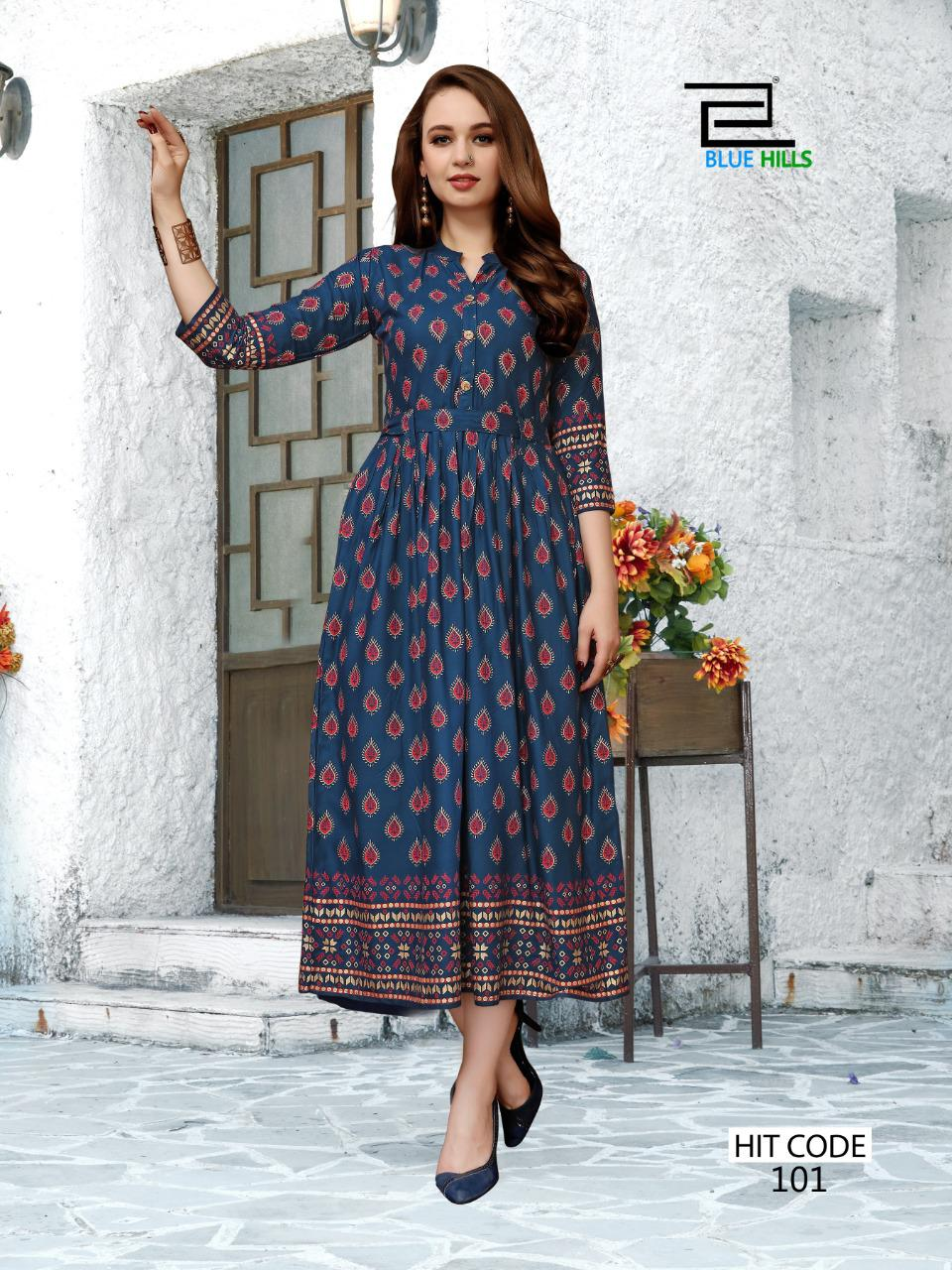 Blue Hills Walkway Hit Kurti Wholesale Catalog 10 Pcs 9 - Blue Hills Walkway Hit Kurti Wholesale Catalog 10 Pcs