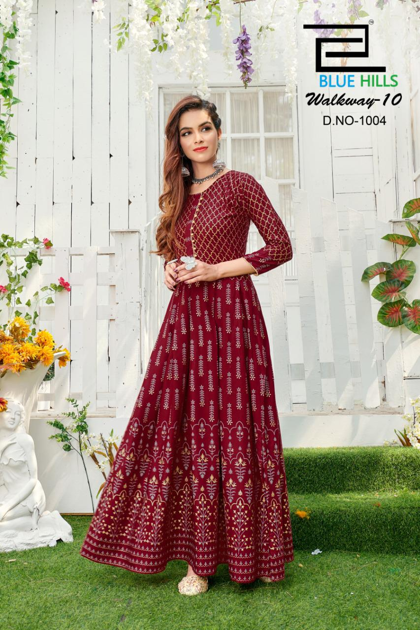 Blue Hills Walkway Vol 10 Kurti Wholesale Catalog 5 Pcs 10 - Blue Hills Walkway Vol 10 Kurti Wholesale Catalog 5 Pcs