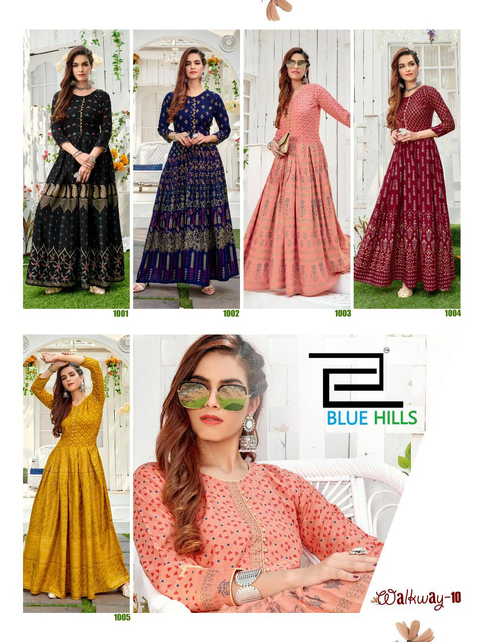 Blue Hills Walkway Vol 10 Kurti Wholesale Catalog 5 Pcs 11 - Blue Hills Walkway Vol 10 Kurti Wholesale Catalog 5 Pcs