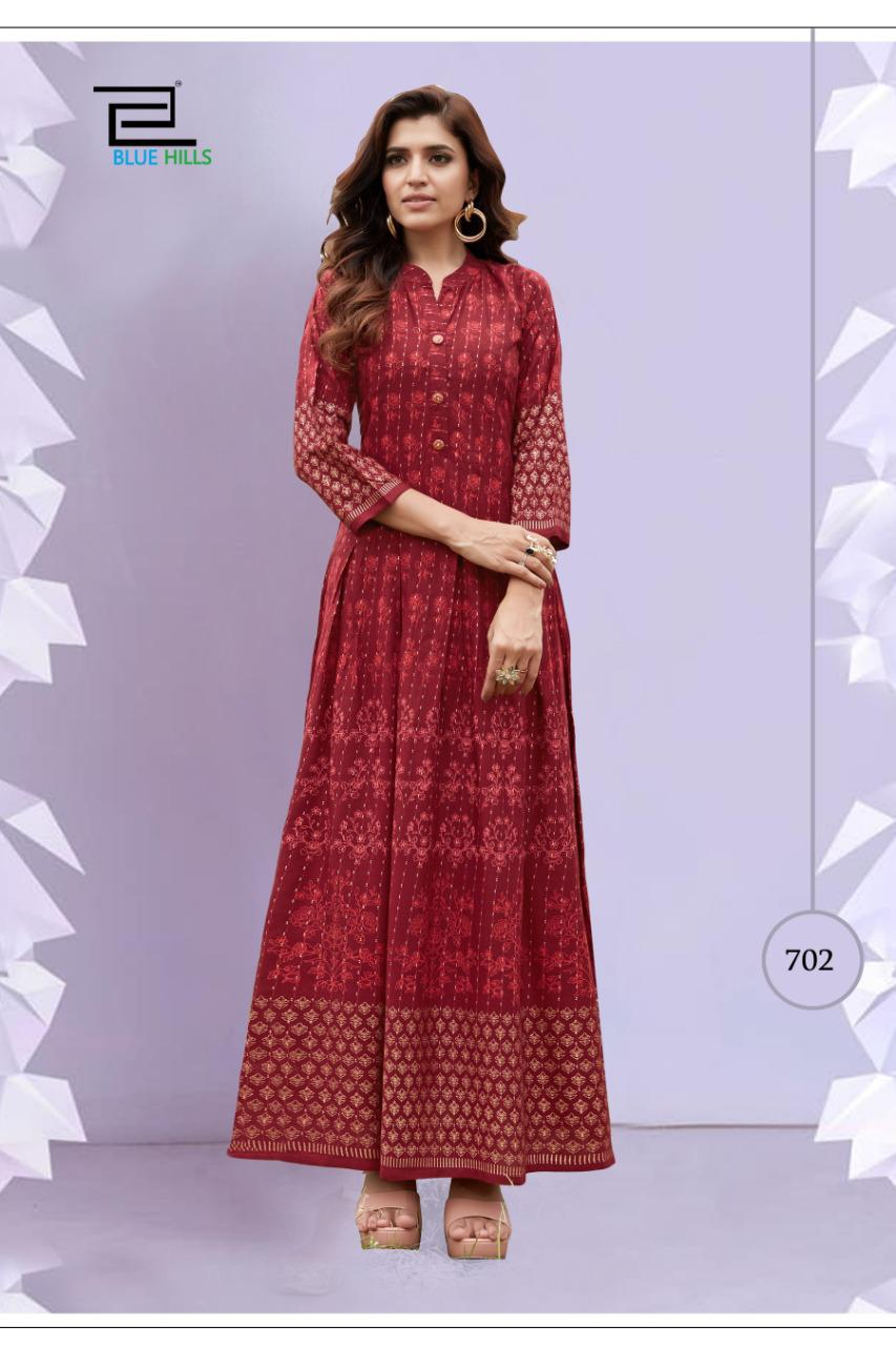 Blue Hills Walkway Vol 7 Nx Kurti Wholesale Catalog 5 Pcs 2 - Blue Hills Walkway Vol 7 Nx Kurti Wholesale Catalog 5 Pcs