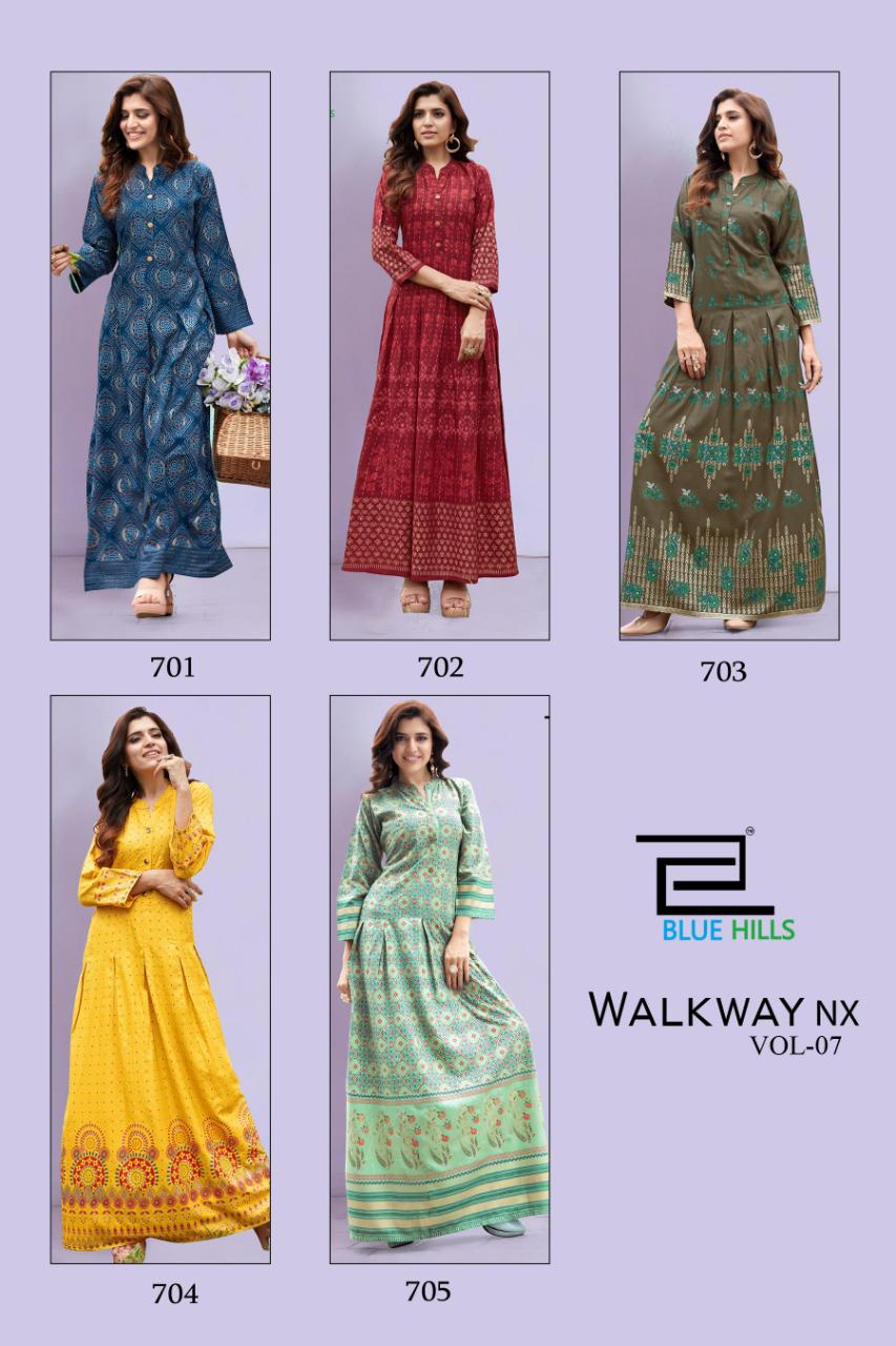 Blue Hills Walkway Vol 7 Nx Kurti Wholesale Catalog 5 Pcs 6 - Blue Hills Walkway Vol 7 Nx Kurti Wholesale Catalog 5 Pcs