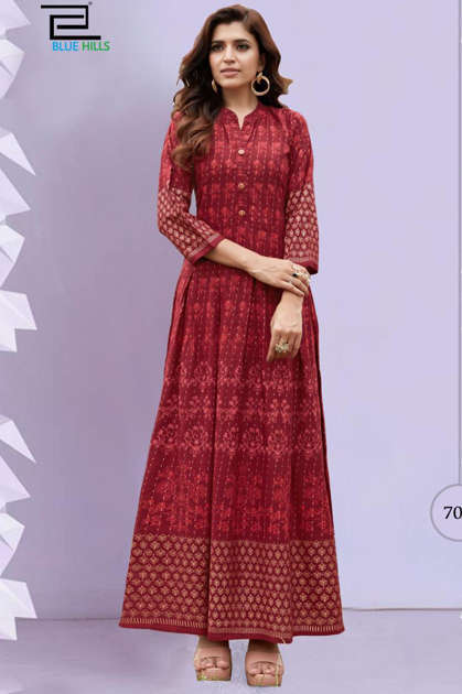 Blue Hills Walkway Vol 7 Nx Kurti Wholesale Catalog 5 Pcs