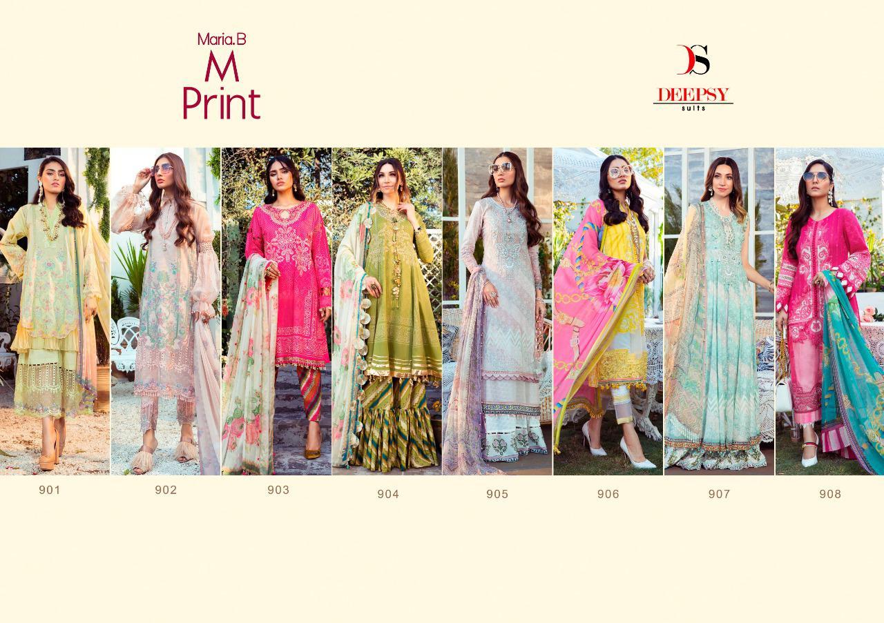 Deepsy Maria B M Print Salwar Suit Wholesale Catalog 8 Pcs 10 - Deepsy Maria B M Print Salwar Suit Wholesale Catalog 8 Pcs