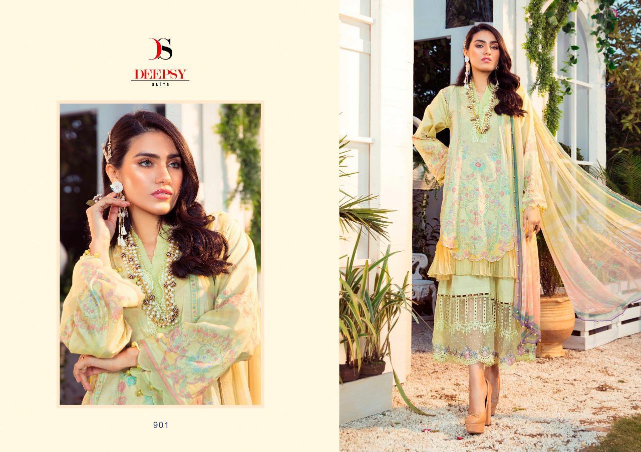 Deepsy Maria B M Print Salwar Suit Wholesale Catalog 8 Pcs 8 - Deepsy Maria B M Print Salwar Suit Wholesale Catalog 8 Pcs