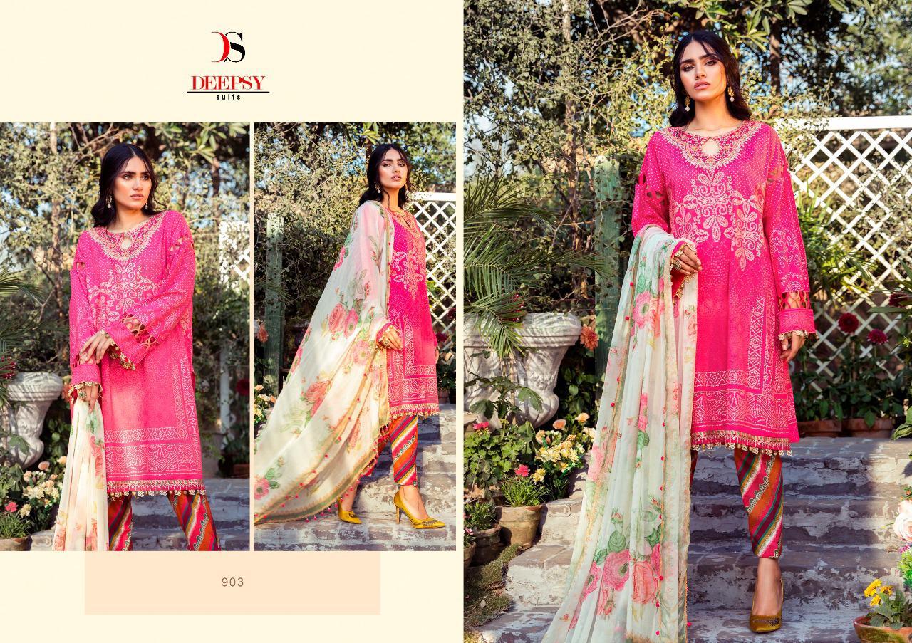 Deepsy Maria B M Print Salwar Suit Wholesale Catalog 8 Pcs 9 - Deepsy Maria B M Print Salwar Suit Wholesale Catalog 8 Pcs