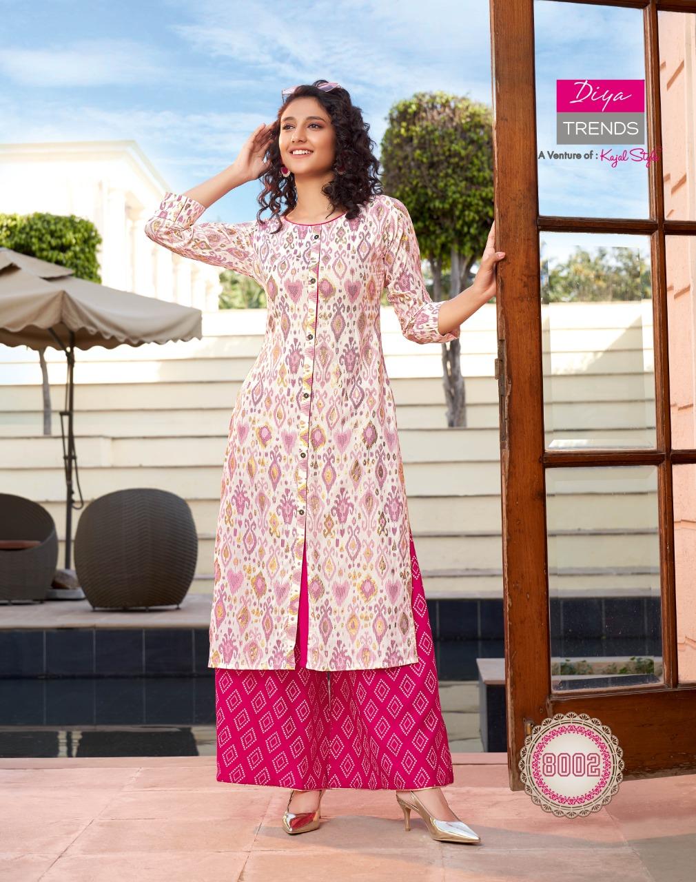 Diya Trends Bibas Vol 8 by Kajal Style Kurti with Palazzo Pant Wholesale Catalog 14 Pcs 10 - Diya Trends Biba's Vol 8 by Kajal Style Kurti with Palazzo Pant Wholesale Catalog 14 Pcs