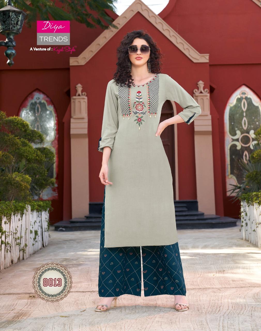 Diya Trends Bibas Vol 8 by Kajal Style Kurti with Palazzo Pant Wholesale Catalog 14 Pcs 6 - Diya Trends Biba's Vol 8 by Kajal Style Kurti with Palazzo Pant Wholesale Catalog 14 Pcs