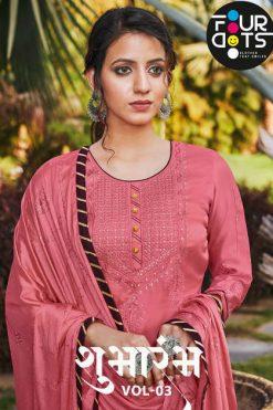 Four Dots Shubharambh Vol 3 by Kessi Salwar Suit Wholesale Catalog 4 Pcs