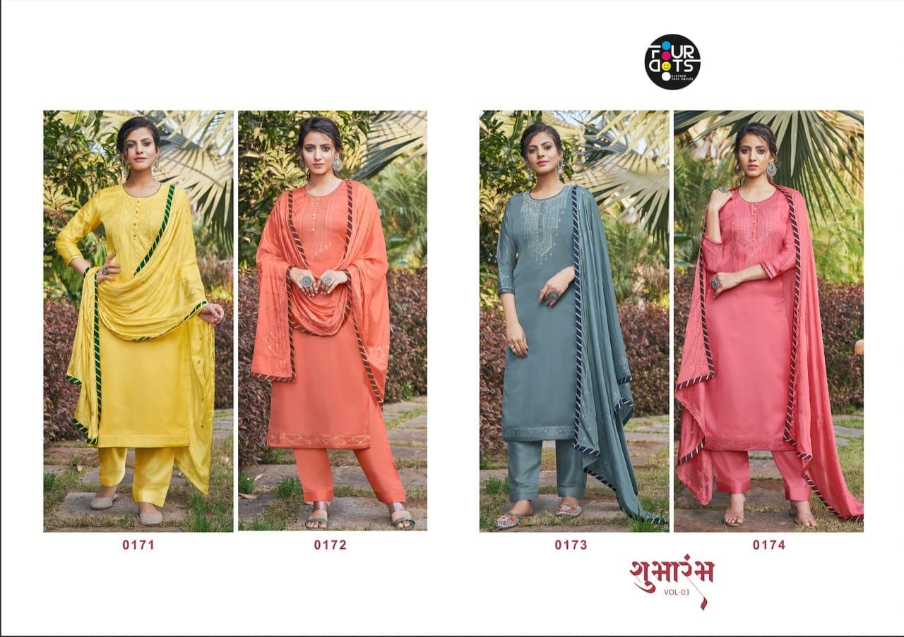 Four Dots Shubharambh Vol 3 by Kessi Salwar Suit Wholesale Catalog 4 Pcs 5 - Four Dots Shubharambh Vol 3 by Kessi Salwar Suit Wholesale Catalog 4 Pcs