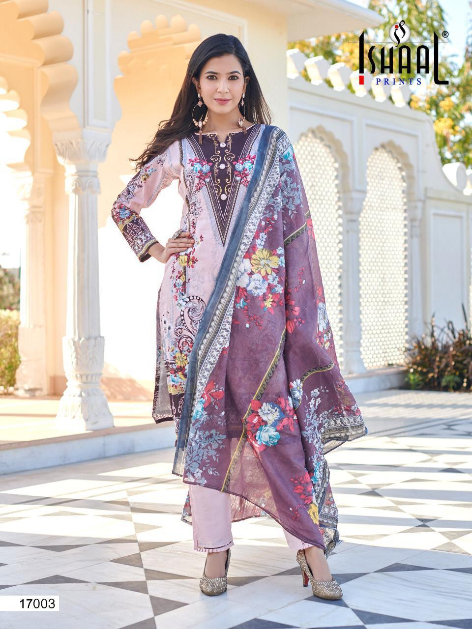 Ishaal Gulmohar Vol 17 Salwar Suit Wholesale Catalog 10 Pcs 10 - Ishaal Gulmohar Vol 17 Salwar Suit Wholesale Catalog 10 Pcs