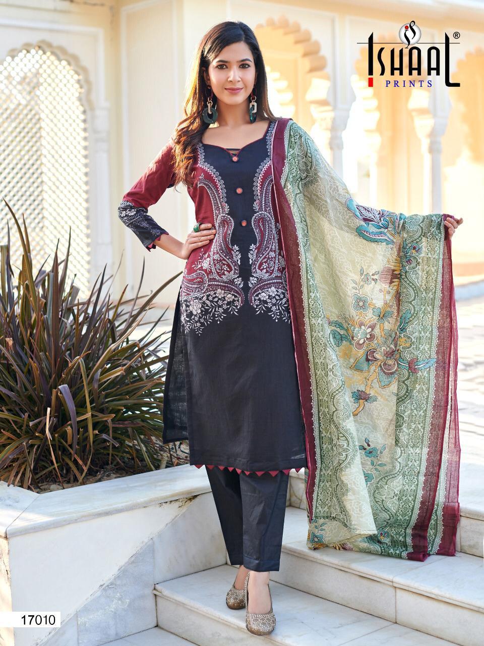Ishaal Gulmohar Vol 17 Salwar Suit Wholesale Catalog 10 Pcs 12 - Ishaal Gulmohar Vol 17 Salwar Suit Wholesale Catalog 10 Pcs
