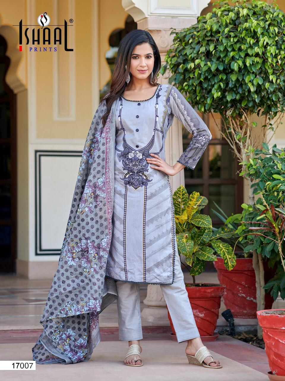 Ishaal Gulmohar Vol 17 Salwar Suit Wholesale Catalog 10 Pcs 16 - Ishaal Gulmohar Vol 17 Salwar Suit Wholesale Catalog 10 Pcs