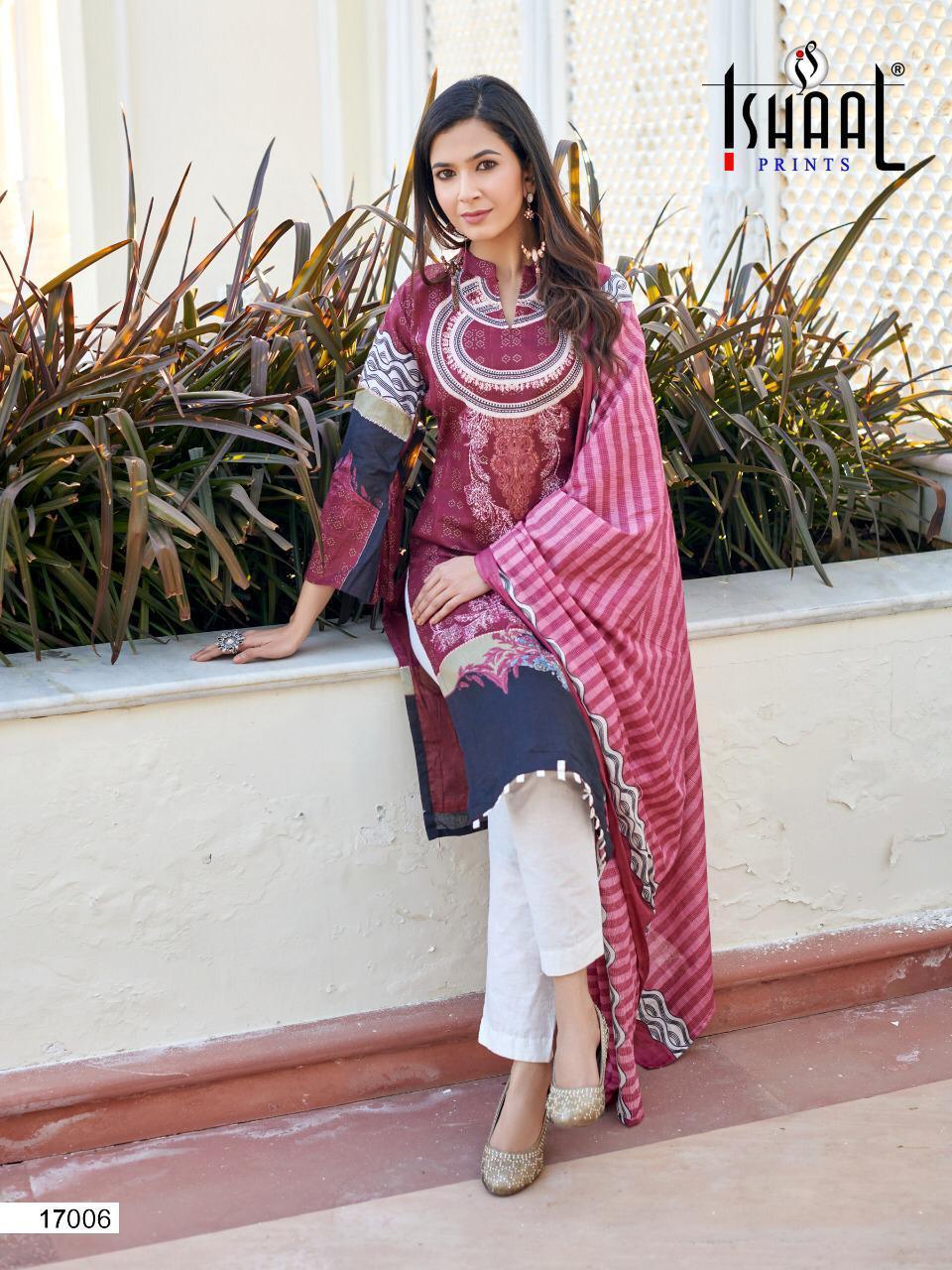 Ishaal Gulmohar Vol 17 Salwar Suit Wholesale Catalog 10 Pcs 18 - Ishaal Gulmohar Vol 17 Salwar Suit Wholesale Catalog 10 Pcs