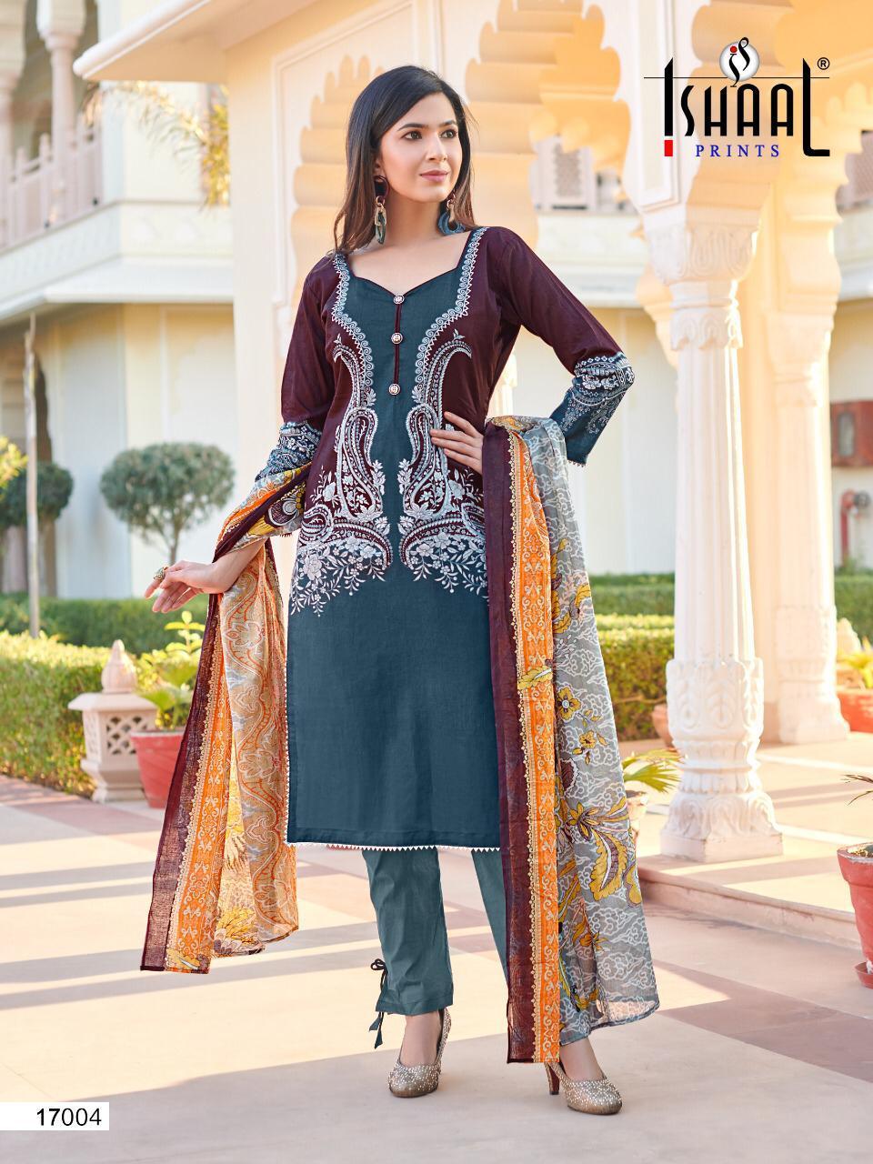 Ishaal Gulmohar Vol 17 Salwar Suit Wholesale Catalog 10 Pcs 6 - Ishaal Gulmohar Vol 17 Salwar Suit Wholesale Catalog 10 Pcs