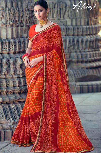 Kashvi Ahiri by Lt Fabrics Saree Sari Wholesale Catalog 10 Pcs