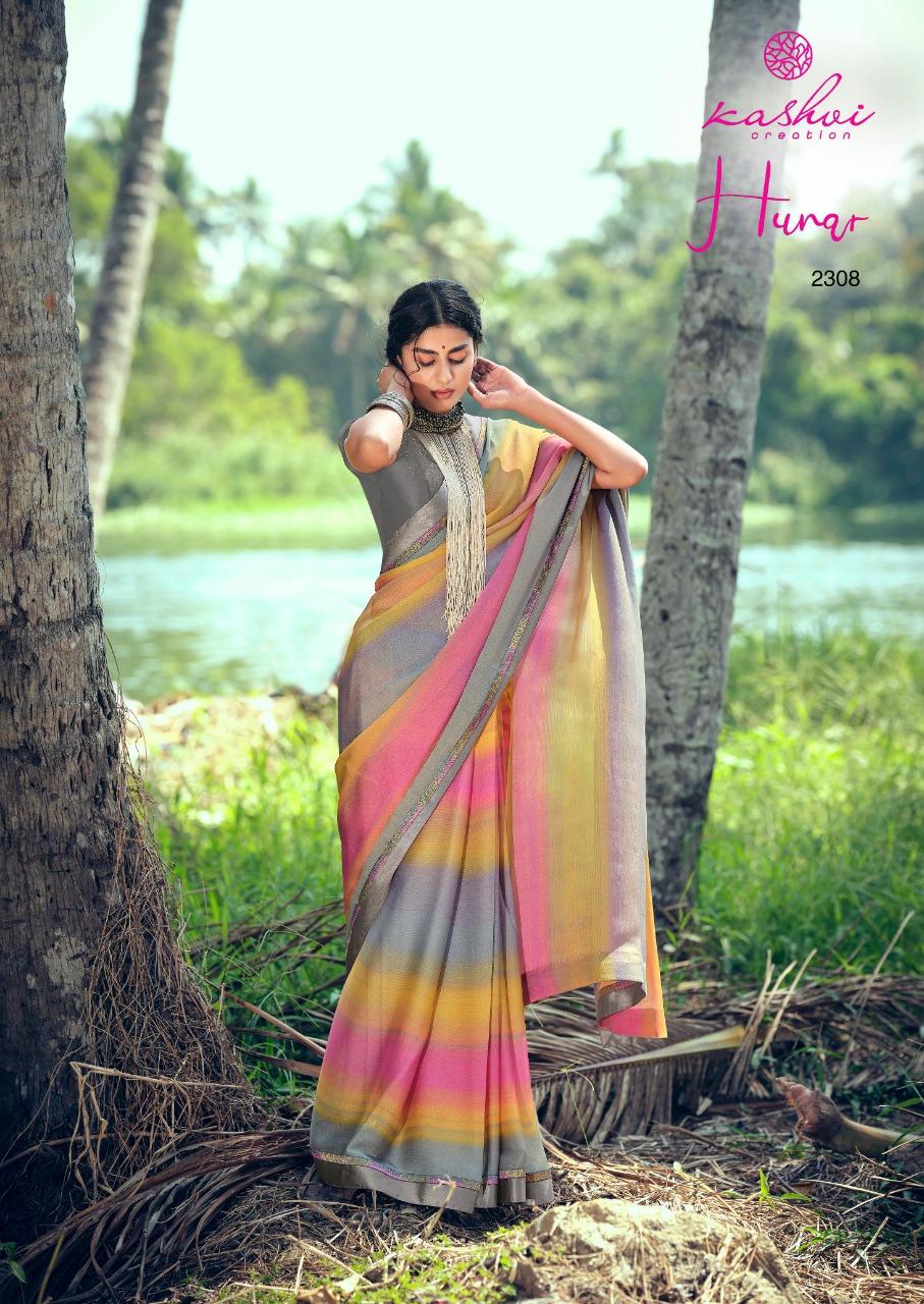 Kashvi Hunar by Lt Fabrics Saree Sari Wholesale Catalog 10 Pcs 15 - Kashvi Hunar by Lt Fabrics Saree Sari Wholesale Catalog 10 Pcs