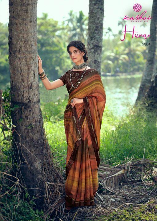 Kashvi Hunar by Lt Fabrics Saree Sari Wholesale Catalog 10 Pcs 9 510x720 - Kashvi Hunar by Lt Fabrics Saree Sari Wholesale Catalog 10 Pcs