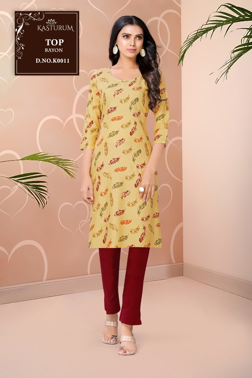 Kasturam K Series by Kajal Style Kurti Wholesale Catalog 11 Pcs 1 - Kasturam K Series by Kajal Style Kurti Wholesale Catalog 11 Pcs