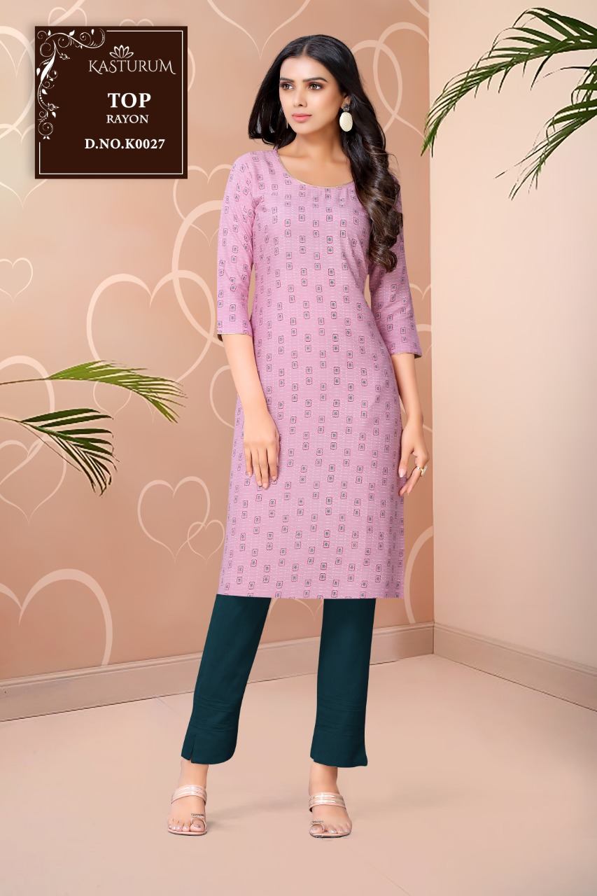 Kasturam K Series by Kajal Style Kurti Wholesale Catalog 11 Pcs 10 - Kasturam K Series by Kajal Style Kurti Wholesale Catalog 11 Pcs