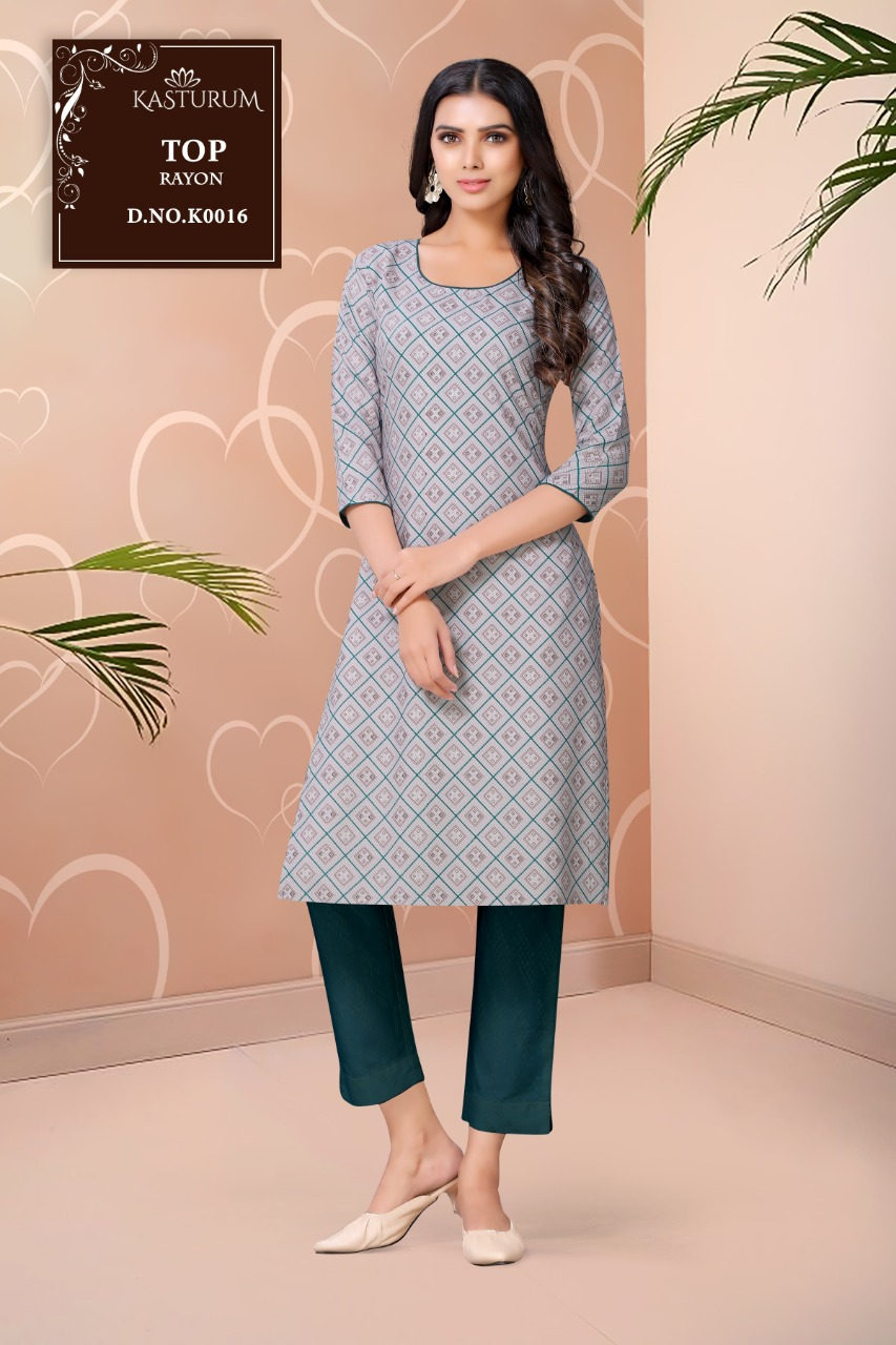 Kasturam K Series by Kajal Style Kurti Wholesale Catalog 11 Pcs 3 - Kasturam K Series by Kajal Style Kurti Wholesale Catalog 11 Pcs
