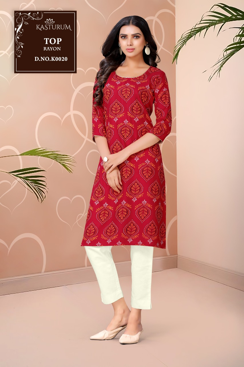 Kasturam K Series by Kajal Style Kurti Wholesale Catalog 11 Pcs 4 - Kasturam K Series by Kajal Style Kurti Wholesale Catalog 11 Pcs