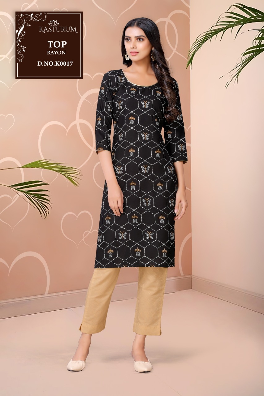 Kasturam K Series by Kajal Style Kurti Wholesale Catalog 11 Pcs 7 - Kasturam K Series by Kajal Style Kurti Wholesale Catalog 11 Pcs