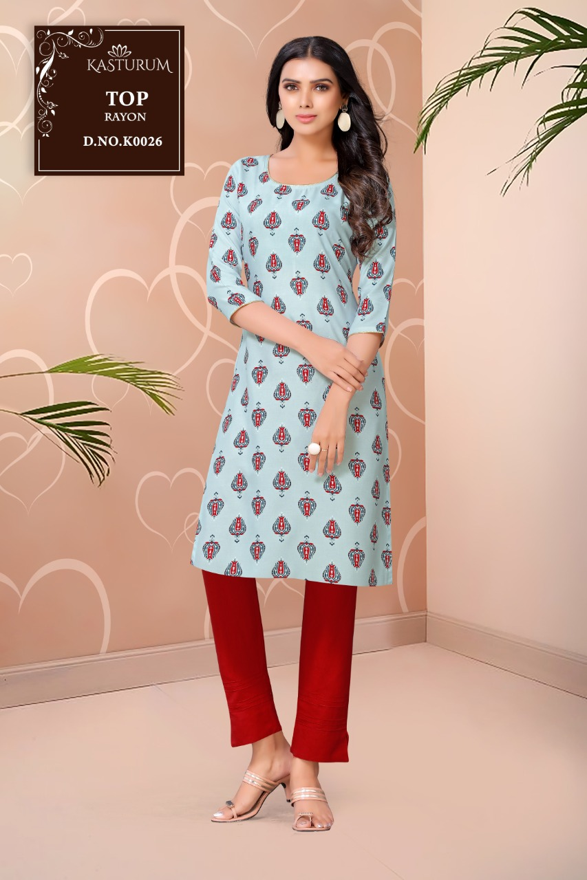 Kasturam K Series by Kajal Style Kurti Wholesale Catalog 11 Pcs 8 - Kasturam K Series by Kajal Style Kurti Wholesale Catalog 11 Pcs