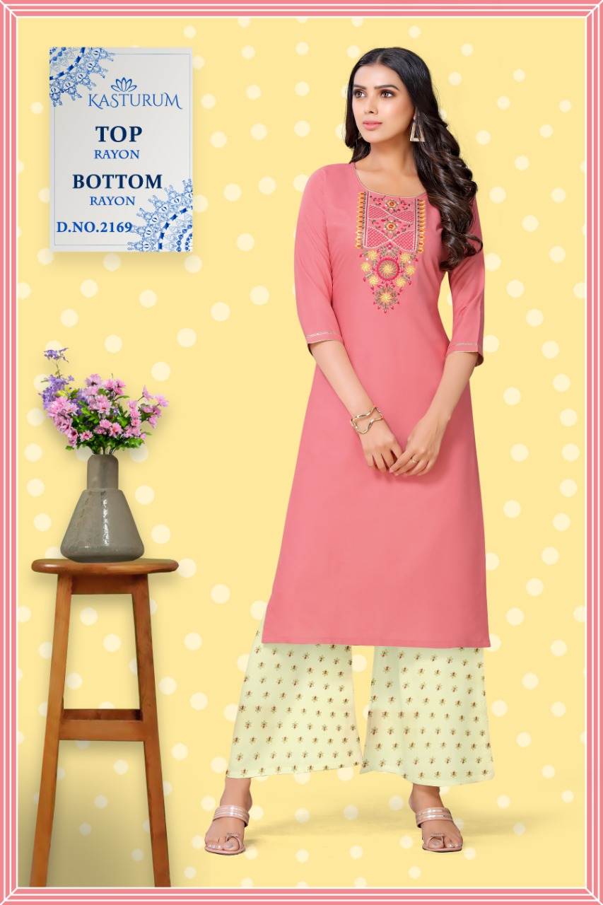Kasturam by Kajal Style Kurti Palazzo Pant Wholesale Catalog 10 Pcs 4 - Kasturam by Kajal Style Kurti with Palazzo Pant Wholesale Catalog 10 Pcs
