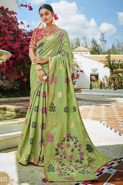 Kessi Garden Silk Saree Sari Wholesale Catalog 10 Pcs - Kessi Garden Silk Saree Sari Wholesale Catalog 10 Pcs