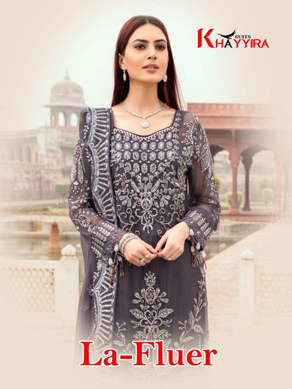 Khayyira La Fluer Salwar Suit Wholesale Catalog 3 Pcs 1 - Khayyira La Fluer Salwar Suit Wholesale Catalog 3 Pcs
