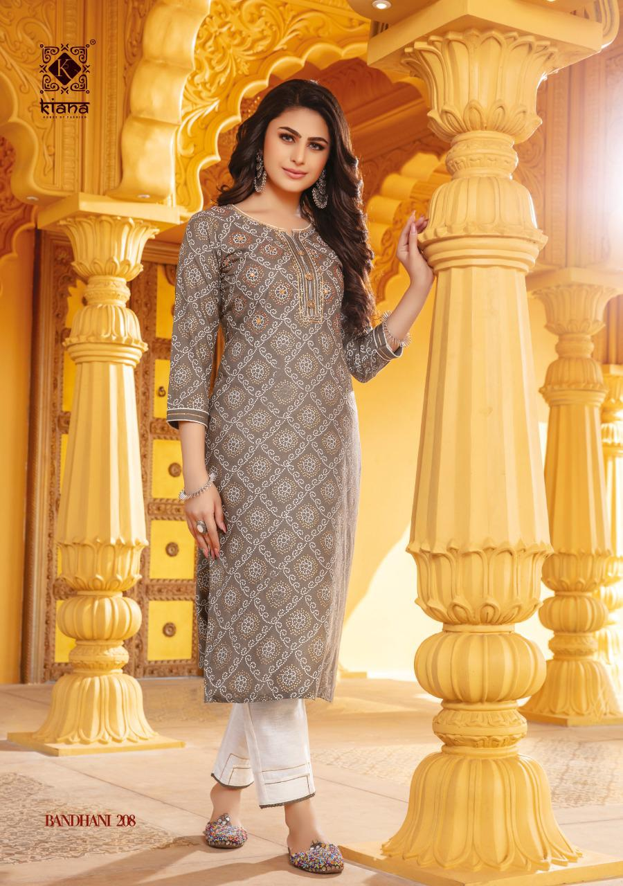 Kiana Bandhani Vol 2 Kurti with Pant Wholesale Catalog 8 Pcs 15 - Kiana Bandhani Vol 2 Kurti with Pant Wholesale Catalog 8 Pcs