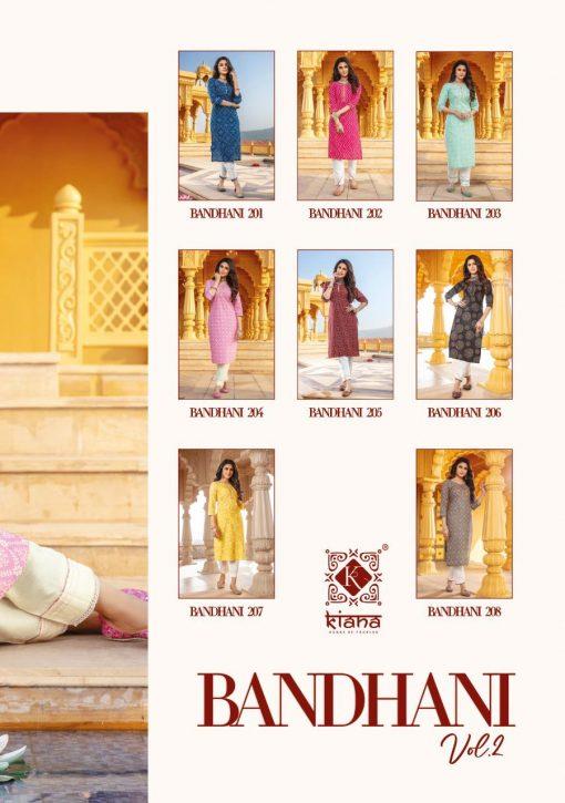 Kiana Bandhani Vol 2 Kurti with Pant Wholesale Catalog 8 Pcs 16 510x725 - Kiana Bandhani Vol 2 Kurti with Pant Wholesale Catalog 8 Pcs