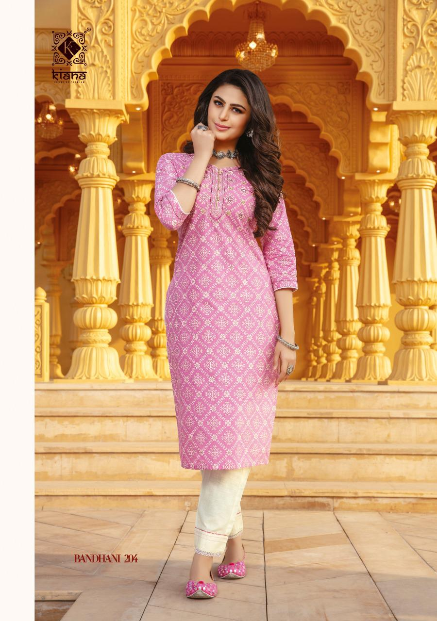 Kiana Bandhani Vol 2 Kurti with Pant Wholesale Catalog 8 Pcs 4 - Kiana Bandhani Vol 2 Kurti with Pant Wholesale Catalog 8 Pcs