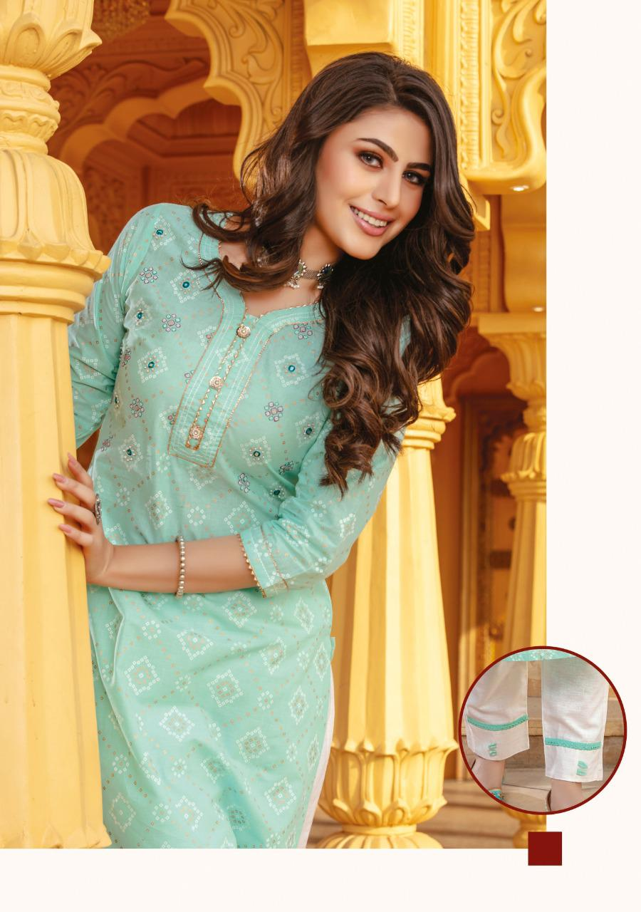 Kiana Bandhani Vol 2 Kurti with Pant Wholesale Catalog 8 Pcs 5 - Kiana Bandhani Vol 2 Kurti with Pant Wholesale Catalog 8 Pcs