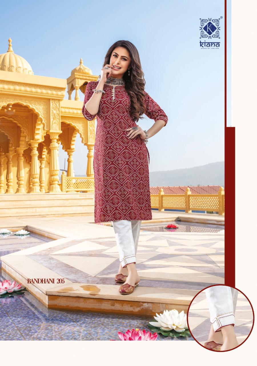 Kiana Bandhani Vol 2 Kurti with Pant Wholesale Catalog 8 Pcs 9 - Kiana Bandhani Vol 2 Kurti with Pant Wholesale Catalog 8 Pcs