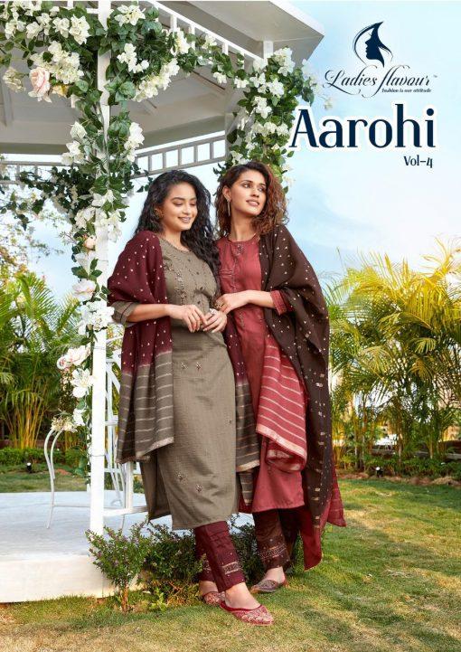 Ladies Flavour Aarohi Vol 4 Kurti with Bottom Dupatta Wholesale Catalog 5 Pcs 1 510x721 - Ladies Flavour Aarohi Vol 4 Kurti with Bottom Dupatta Wholesale Catalog 5 Pcs