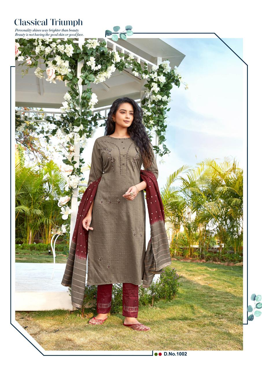 Ladies Flavour Aarohi Vol 4 Kurti with Bottom Dupatta Wholesale Catalog 5 Pcs 5 - Ladies Flavour Aarohi Vol 4 Kurti with Bottom Dupatta Wholesale Catalog 5 Pcs