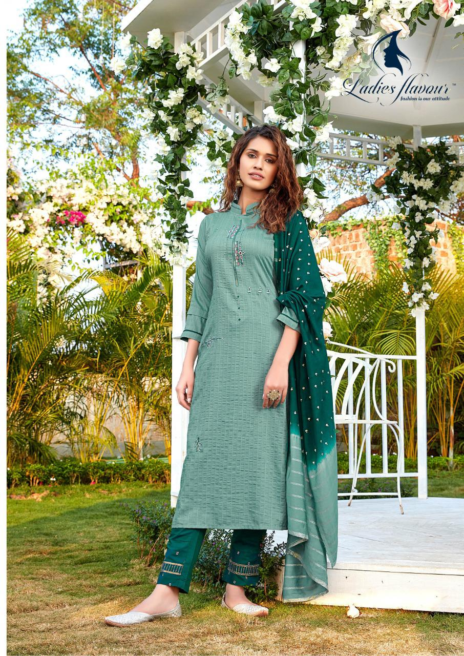 Ladies Flavour Aarohi Vol 4 Kurti with Bottom Dupatta Wholesale Catalog 5 Pcs 6 - Ladies Flavour Aarohi Vol 4 Kurti with Bottom Dupatta Wholesale Catalog 5 Pcs