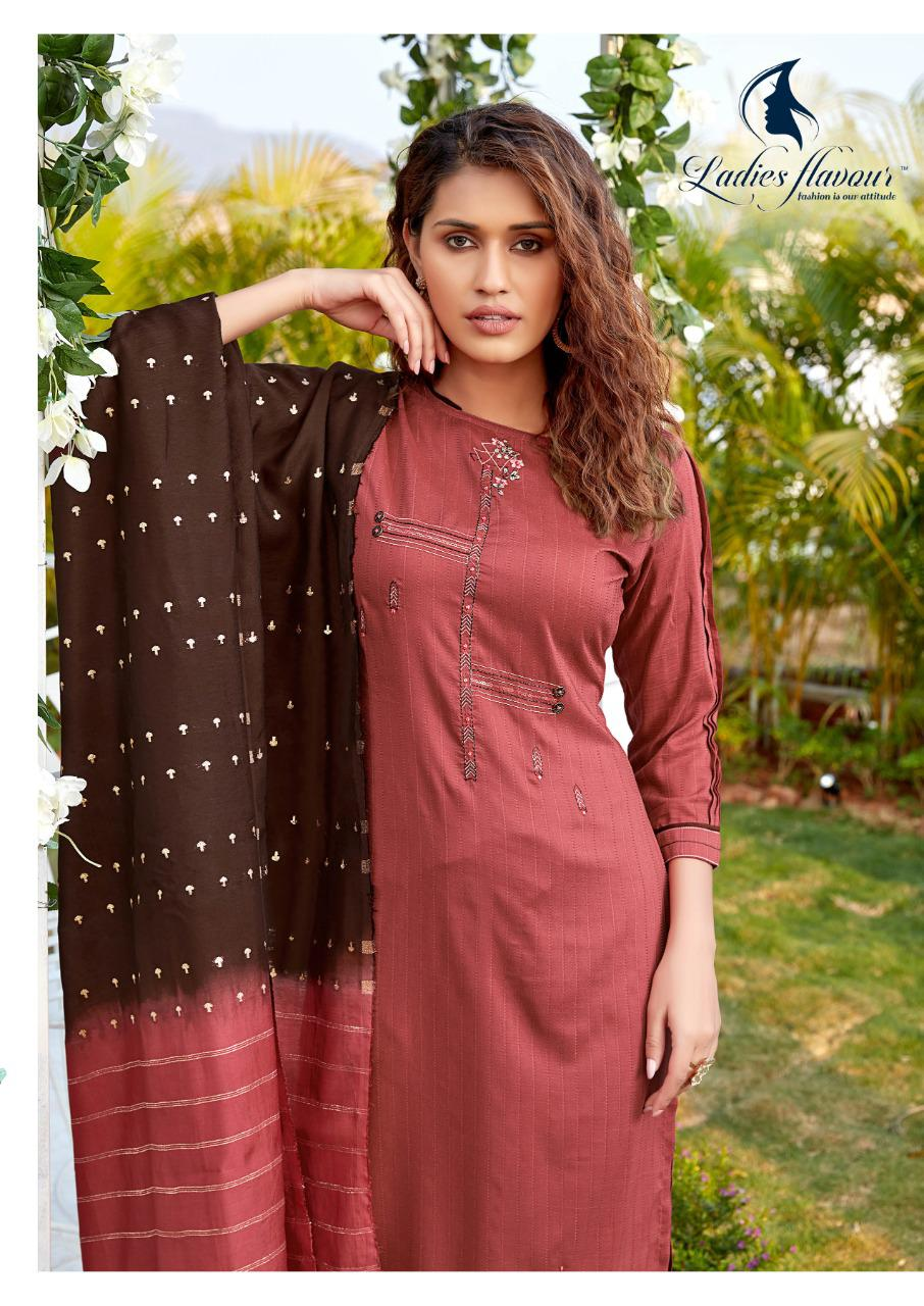 Ladies Flavour Aarohi Vol 4 Kurti with Bottom Dupatta Wholesale Catalog 5 Pcs 9 - Ladies Flavour Aarohi Vol 4 Kurti with Bottom Dupatta Wholesale Catalog 5 Pcs