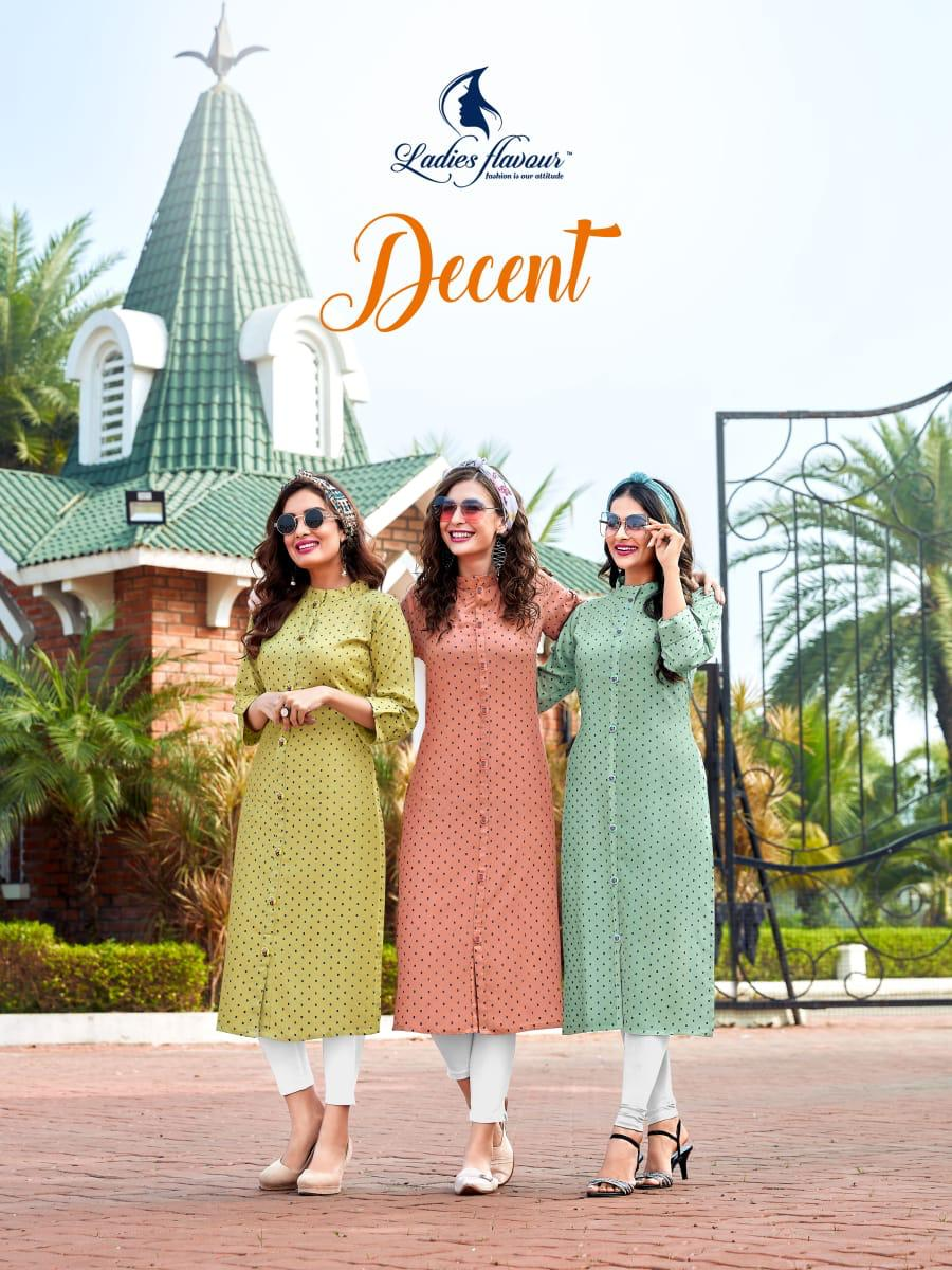 Ladies Flavour Decent Kurti Wholesale Catalog 6 Pcs 1 - Ladies Flavour Decent Kurti Wholesale Catalog 6 Pcs