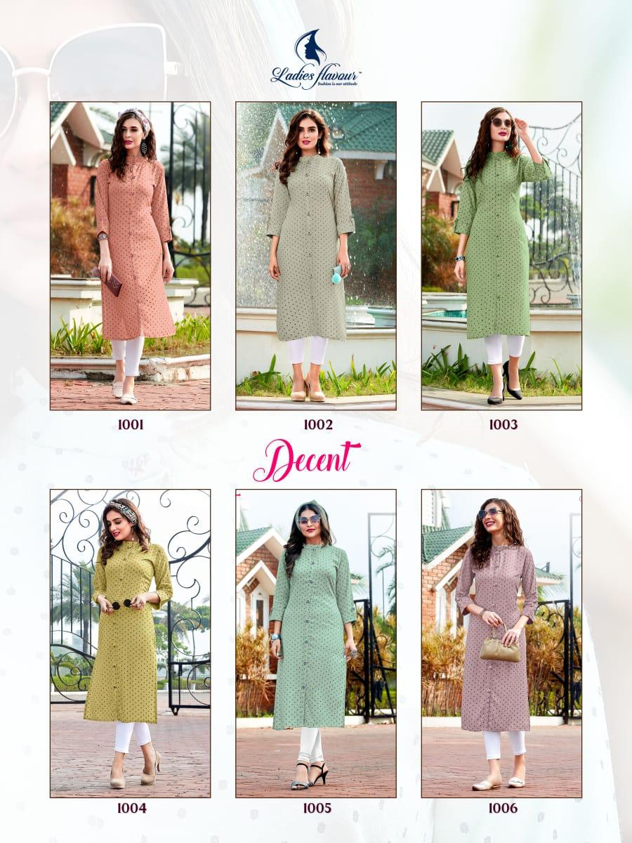 Ladies Flavour Decent Kurti Wholesale Catalog 6 Pcs 14 - Ladies Flavour Decent Kurti Wholesale Catalog 6 Pcs